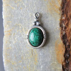 Carolyn Pollack Green Turquoise Charm Signed .925
